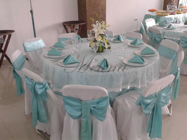 Decoración de mesas en Mérida