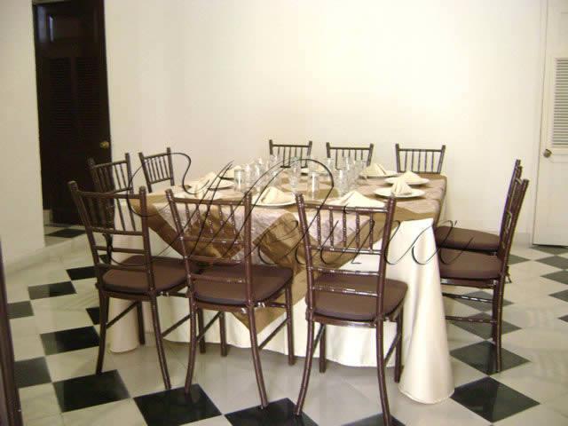 Alquiler de mesas y sillas Méida