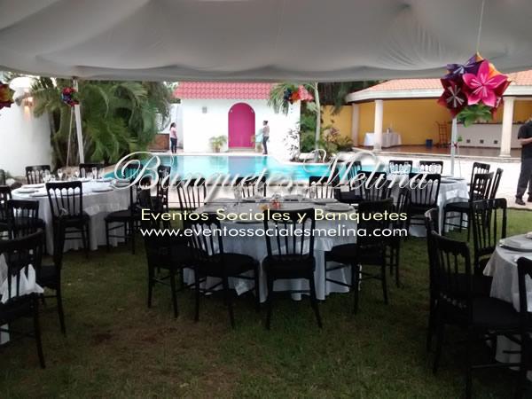 Decoración de mesas y sillas - Mérida